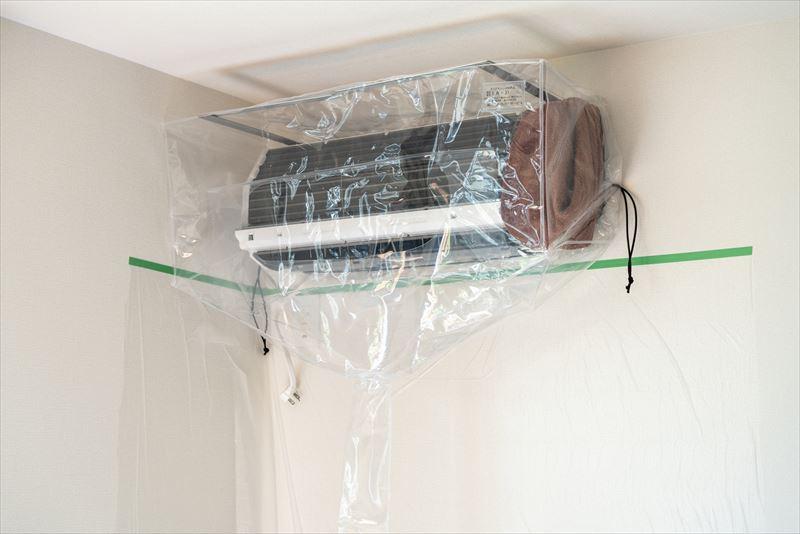 エアピカのエアコンクリーニングはここが違う 洗浄カバー(水受け)はフルカバータイプを使用