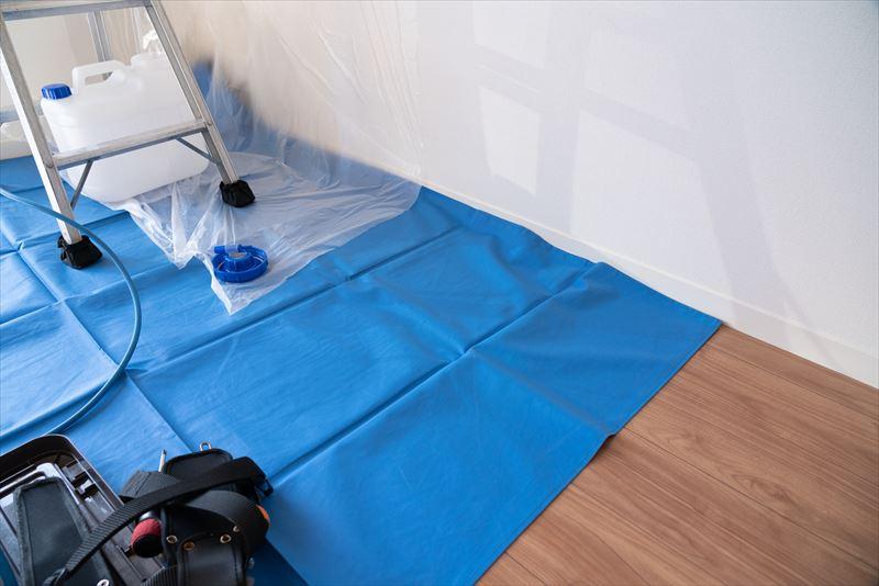 エアピカのエアコンクリーニングはここが違う 専用の防水ゴムマットを使用