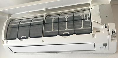 フィルター自動お掃除機能付きエアコンの見分け方